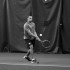 Senior Tyler Antil rallies during practice in preparation for a big conference match against St. Mary's this coming weekend and for their matches over spring break.