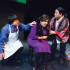 "Left to right: First-year Lee Mai, junior Kyrie Carlson and senior Phasoua Vang act in Hamline Theatre's play ""Crocodile Seeking Refuge,"" which tells the story of refugees in search of asylum in the United Kingdom."