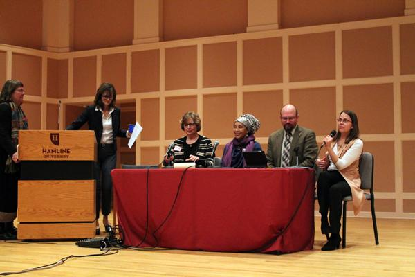 Rev. JoAnn Post, Dr. Monica A. Coleman, Dr. Todd Billings and Dr. Deanna Thompson participated in a panel response to the main lecture.