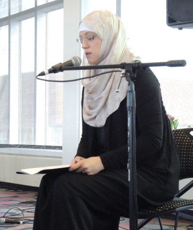 Hamline alum Zan Aisha Christ recites the Quran to a public audience for the first time.