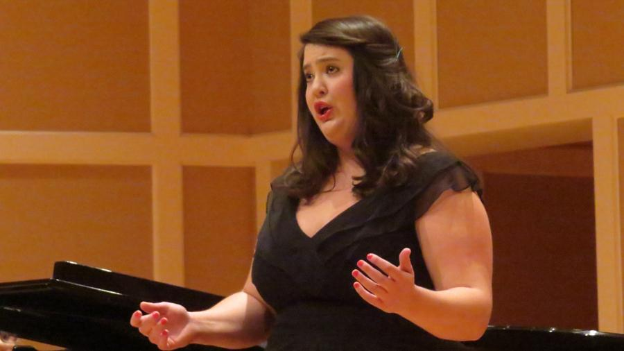 Soprano Ashley Mispagel, who was one of five singers chosen to advance to the Region-level auditions, wows the judges with her performance of Bellini's