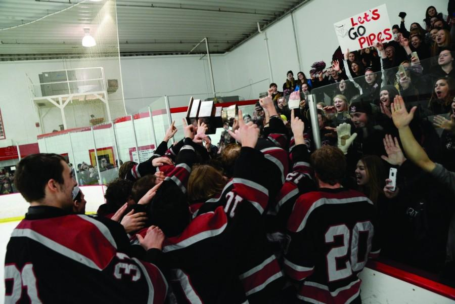 Hamline hockey's fan base traveled to Winona, Minnesota, to see them win their second ever conference championship.