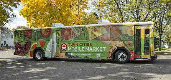 The retired Metro Transit bus has been converted into a grocery store on wheels for those who don't have access to fresh produce and healthy foods.