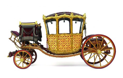 The Prince's Dress Carriage is one of the larger items on display and was used as transportation by Maria Theresa and her husband.