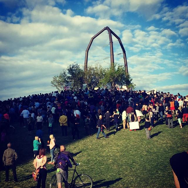 Gold Medal Park served as the starting point for those marching to bring awareness to the Black Lives Matter movement.