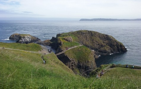 Carrick-a-Rede rope bridge in Northern Ireland connects this tiny island to the mainland.