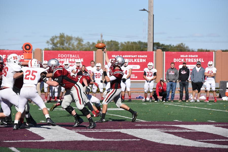 Backup quarterback Luke Lindquist filled in against St. John's on Saturday, Oct. 3 after starter Kyle Johnson was injured in the first half.