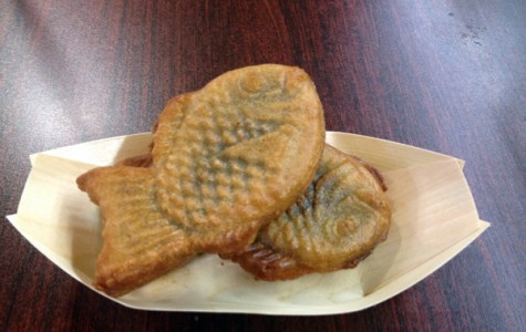 Taiyaki, a Japanese cake with filling.