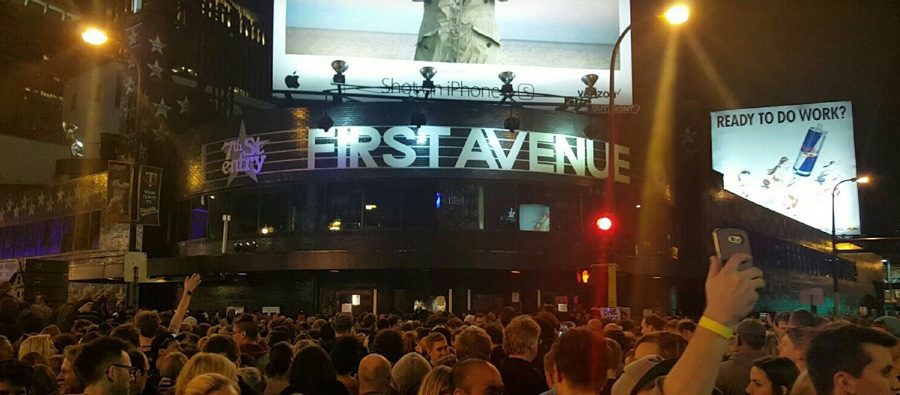 Thousands gathered at First Avenue & 7th St Entry to mourn the loss of Prince on Thursday, April 21. The club hosted an all-night dance party to honor the music legend.