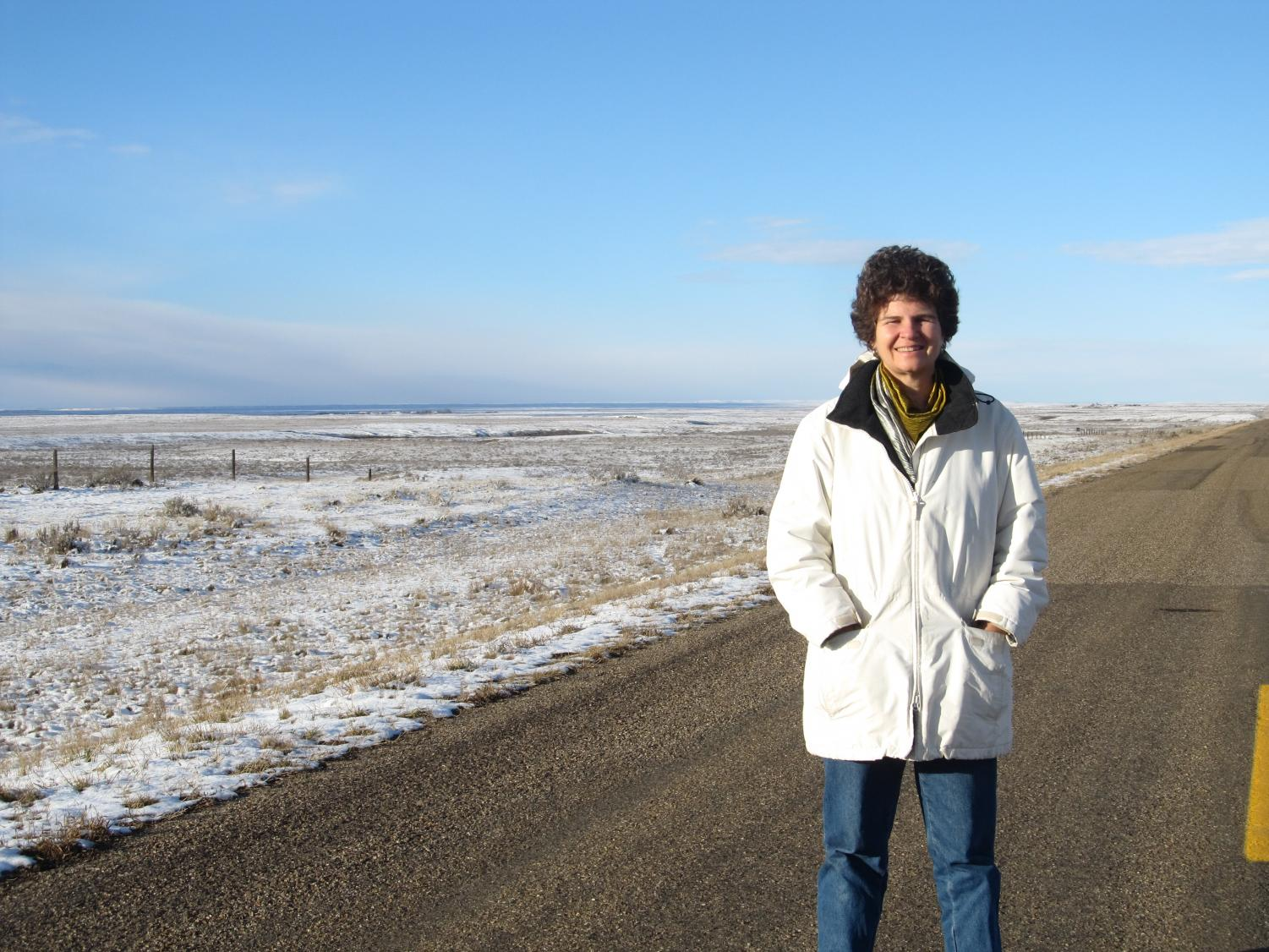 Professor Kate Bjork took various research trips, such as to Fort Assiniboine and Fort Walsh along the Canadian border.
