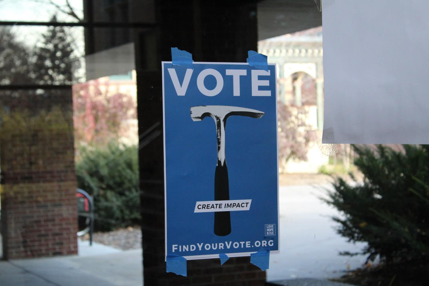 On Nov. 1, voting propaganda sprouted up around campus.