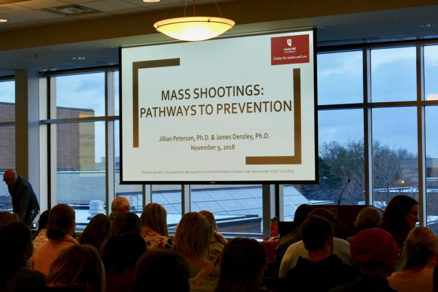 Hamline%E2%80%99s+Center+for+Justice+and+Law+hosts+presentation+on+the+findings+of+a+mass+shooter+database+project.