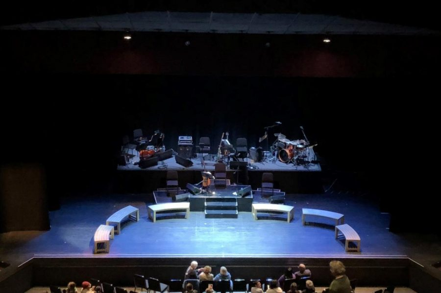The+stage+of+the+O%E2%80%99Shaughnessy+theatre+at+St.+Catherine+University%2C+set+for+Parable+of+the+Sower%3A+The+Concert+Version.