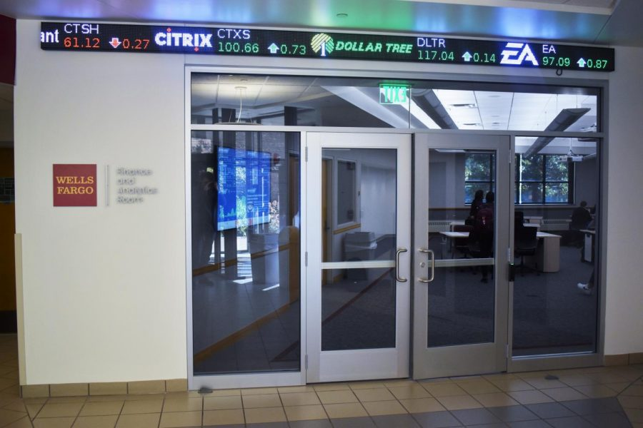 This new ticker bordering the remodeled East Hall classroom can be seen from the doors of East Hall.