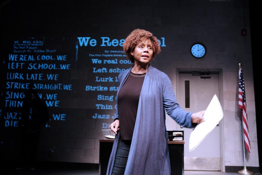 Erika LaVonn plays Nya in Penumbra's production of 'Pipeline,' a mother caught between American racism and wanting a good education for her son.