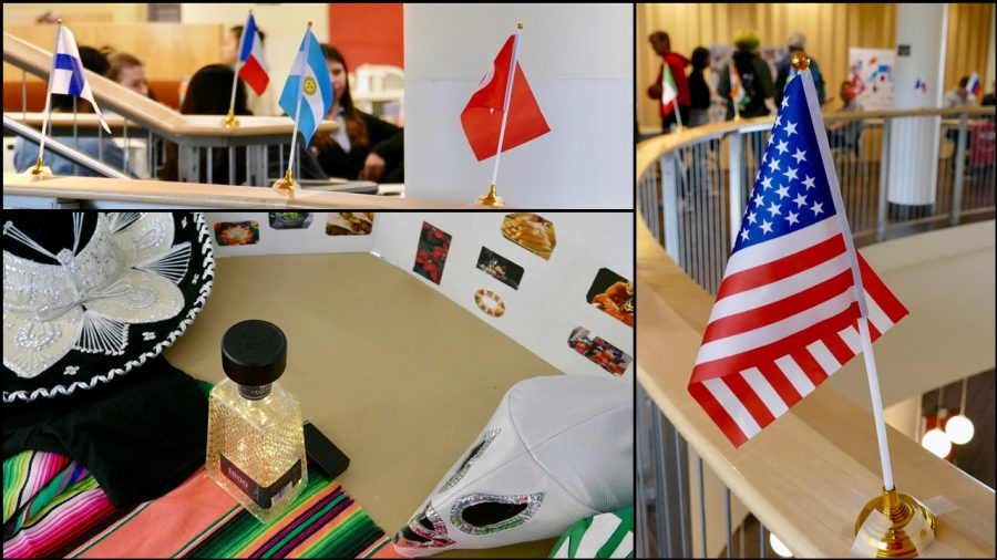 The International Food Bazaar took over the second floor of Anderson by decorating with international pride.