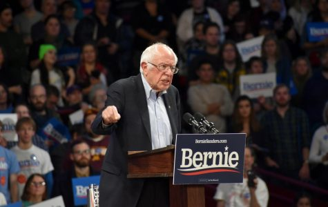 """Senator Bernie Sanders boldly proclaimed his hopes should he be elected and spoke against """"modern day tyrants"""" at a campaign rally on Nov. 3 at the University of Minnesota."""
