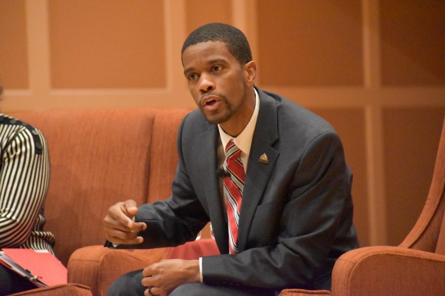 St. Paul mayor Melvin Carter talked about the importance of true equity and community, and most importantly 'consent of the governed' during a visit to Hamline on Feb. 12. Carter is running for re-election this year.