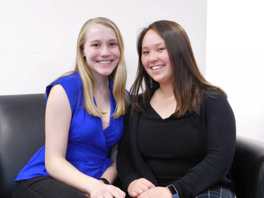 "Sophomores Kaia Ziegler and Cecelia Miller are the president and vice president of HUSC for 2020-2021. A few of their stated plans are to continue to fund the Feed Your Brain campaign and to make sure that ""students voices are being heard on campus."""