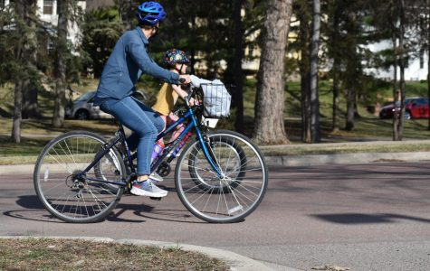 Bikers, looking to enjoy the fresh weather and forget the quarantine, were out and about near the lakes and Parkway in Minneapolis on April 23, 2020.
