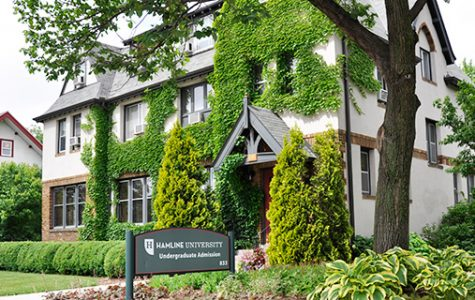 Hamline University's admissions house