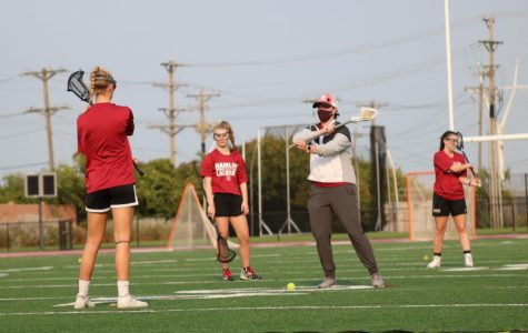 Coach Heggerens training members of the team