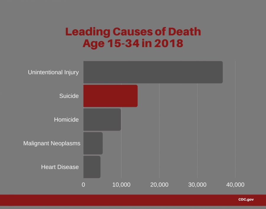 A statistical analysis of the leading causes of death for those age 15 to 34