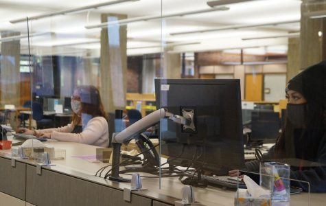 The front desk in the Bush Memorial Library