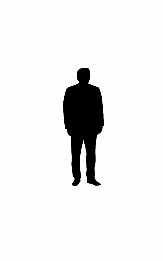 A silhouette of President Trump
