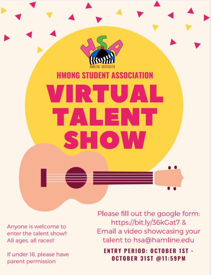 The poster promoting the virtual talent show