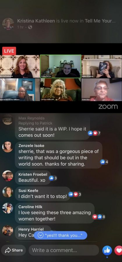 The Facebook Live had a chat function for audience members to leave comments and interact with each other throughout the event.