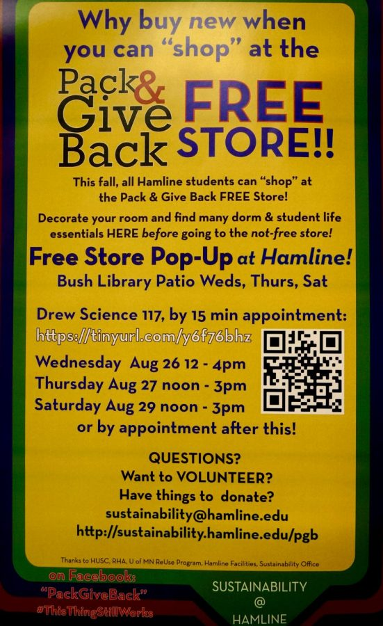 Instruction on how to make an appointment and visit the free store