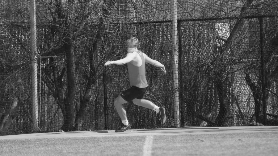 courtasey of Hamline Athletics First year Connor Prok placed sixth in the discus competition with a distance of 32.10 meters thrown. All the track athletes showed up to represent their school with pride and perseverance at their first outdoor meet of the season.