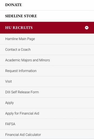 Cathryn Salis Online resources for potential recruits can be found on the Hamline Athletics website under the HU Recruits tab or in each team's Recruit Me! tab on their pages. The potential recruits can fll out the form or reach out to the head coaches to start the process.