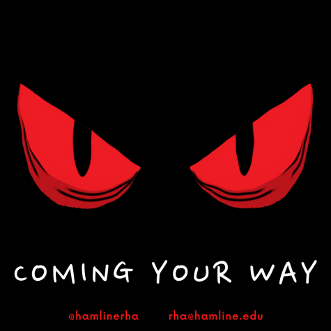 Something spooky coming your way. Haunted hallway Wednesday, October 27th from 8-11p.m. in Manor Hall.