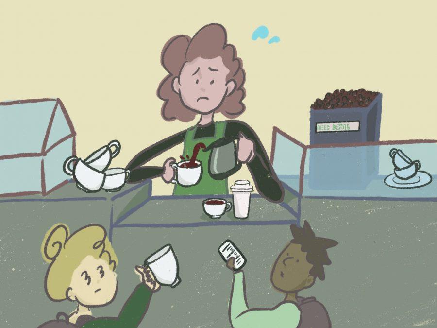 Starbucks, staffing and scrambling