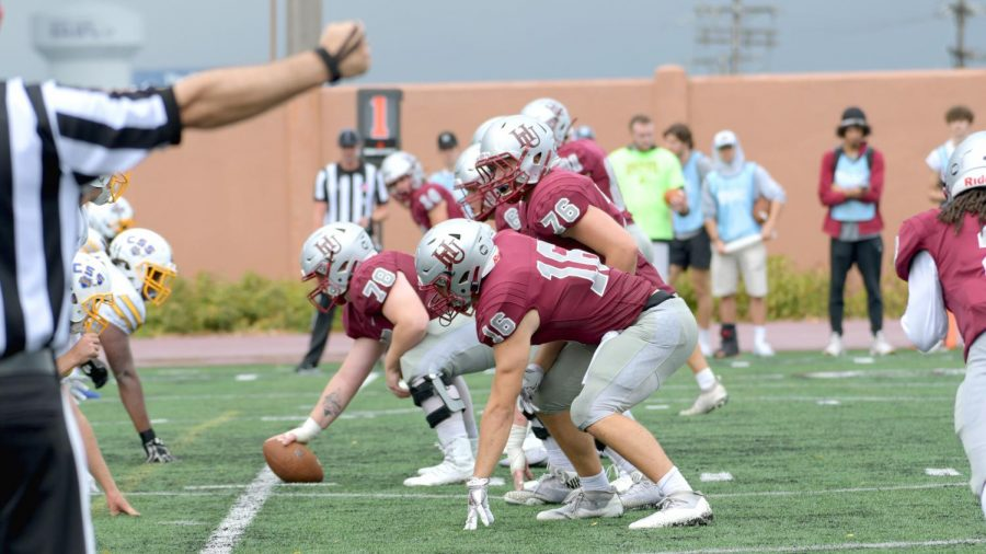 The Pipers faced off against the Saints on Saturday, October 2 at Klas Field. This is only the second time in three semesters the Pipers have played in front of fans at their home field.